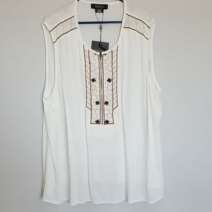 Michel Studio - Pretty embroidered tank